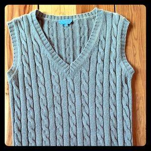 Max Mara Cable Knit Camel Vest- Size M